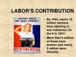 labor s contribution