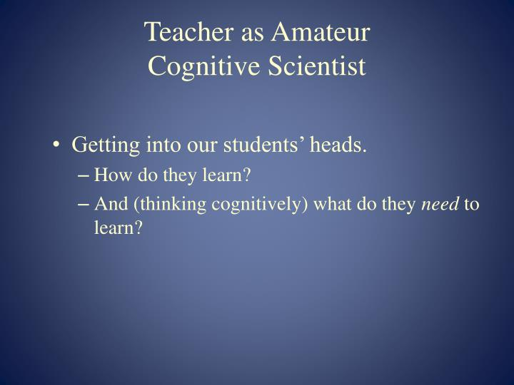 Teacher as Amateur