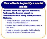 new efforts to justify a social meals11