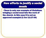 new efforts to justify a social meals12