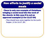 new efforts to justify a social meals13