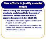 new efforts to justify a social meals14