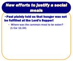 new efforts to justify a social meals21
