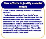 new efforts to justify a social meals23
