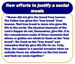 new efforts to justify a social meals29