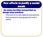new efforts to justify a social meals3
