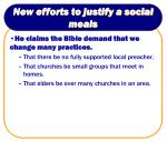 new efforts to justify a social meals4