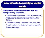 new efforts to justify a social meals5