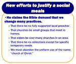 new efforts to justify a social meals6