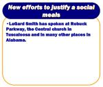 new efforts to justify a social meals8