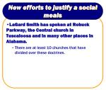 new efforts to justify a social meals9