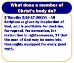 what does a member of christ s body do1