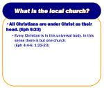 what is the local church1