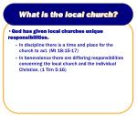 what is the local church12