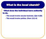 what is the local church17