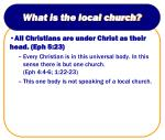 what is the local church2