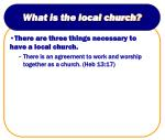 what is the local church5