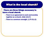 what is the local church6