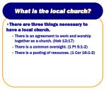 what is the local church7