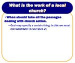 what is the work of a local church1