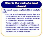 what is the work of a local church10
