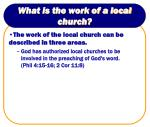 what is the work of a local church12