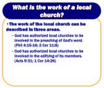 what is the work of a local church13