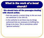 what is the work of a local church2