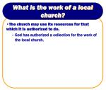 what is the work of a local church4