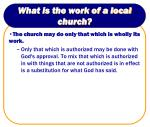 what is the work of a local church8