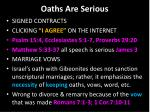 oaths are serious2