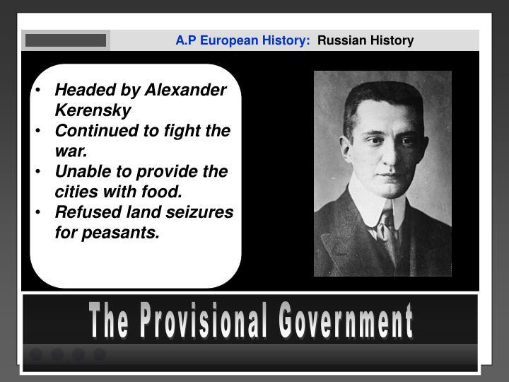 A.P European History: