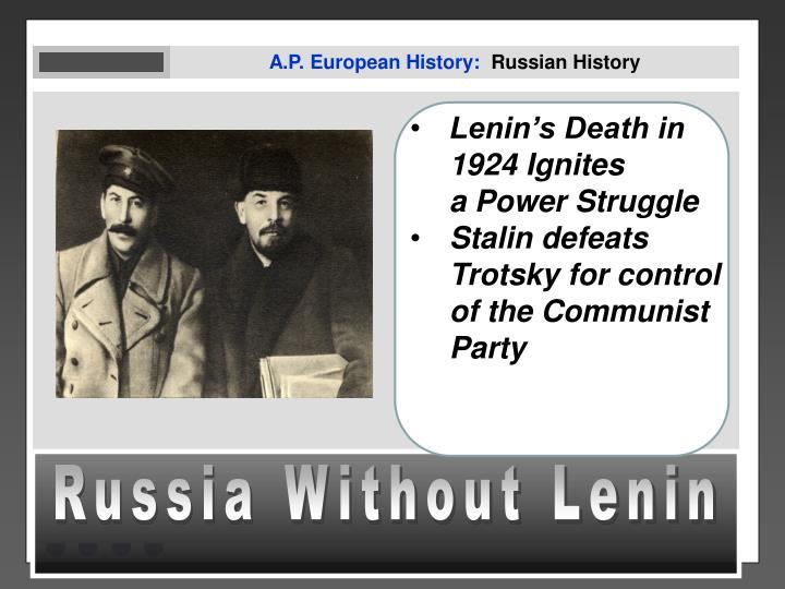A.P. European History:
