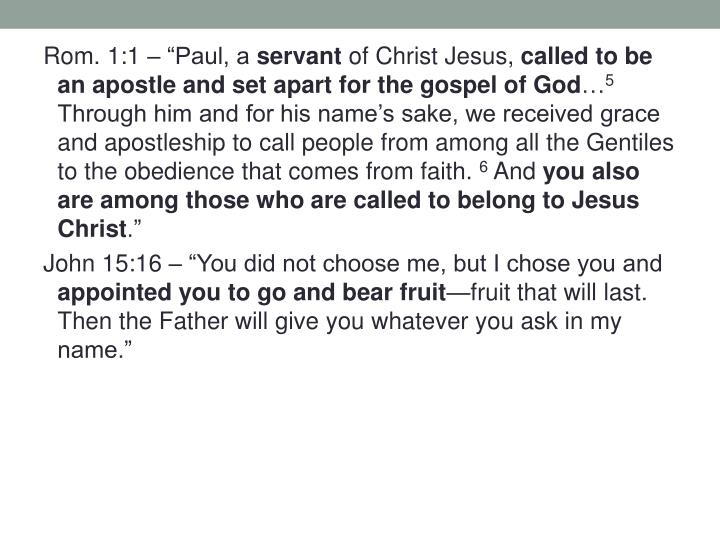 """Rom. 1:1 – """"Paul, a"""