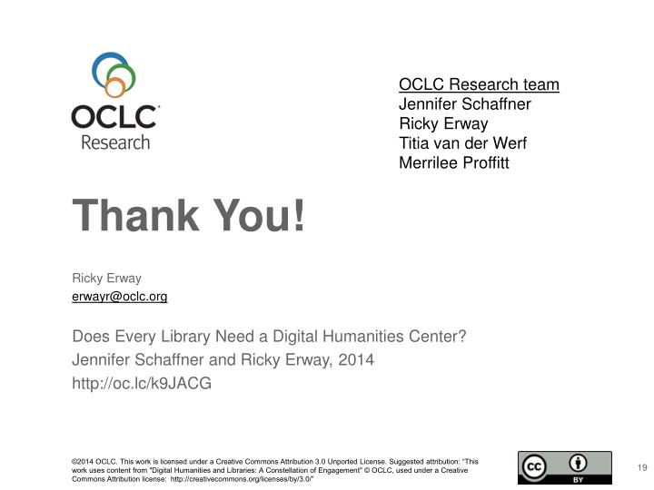 OCLC Research team
