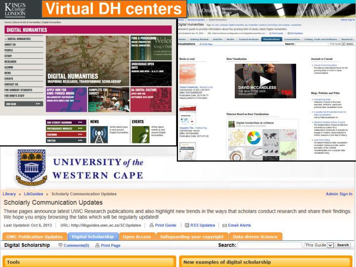 Virtual DH centers