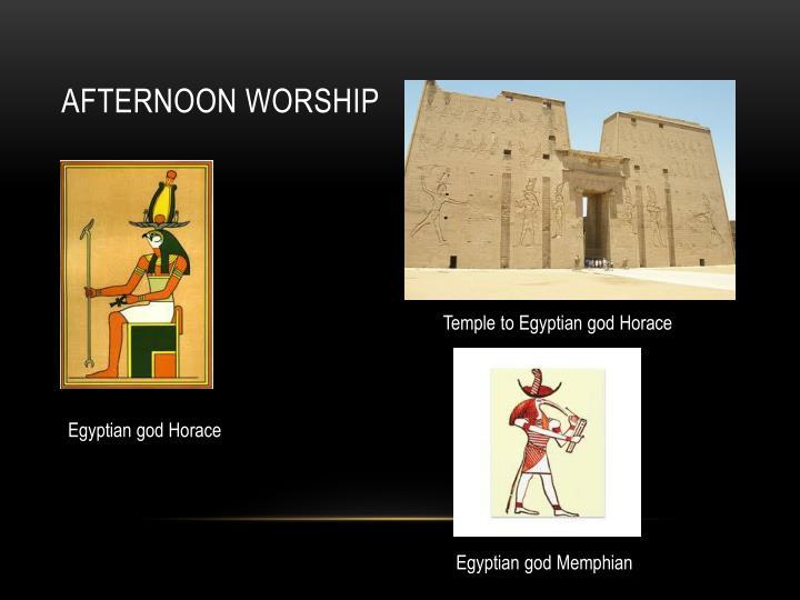 Afternoon worship