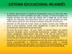 sistema educacional irland s