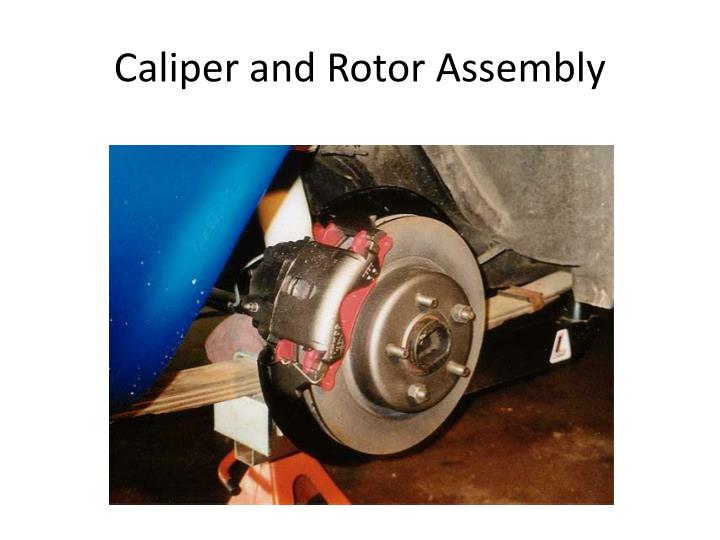 Caliper and Rotor Assembly
