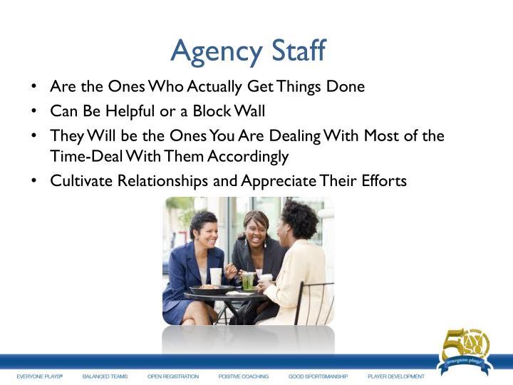 Agency Staff