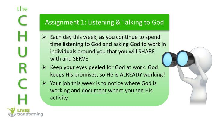 Assignment 1: Listening & Talking to God