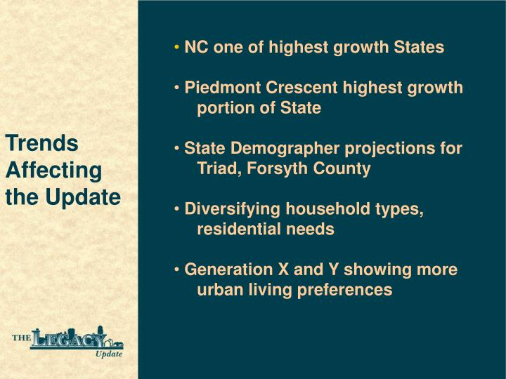 NC one of highest growth States
