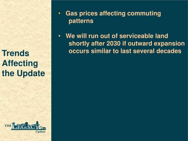 Gas prices affecting commuting