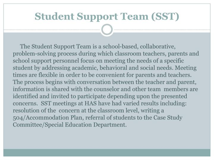 Student Support Team (SST)
