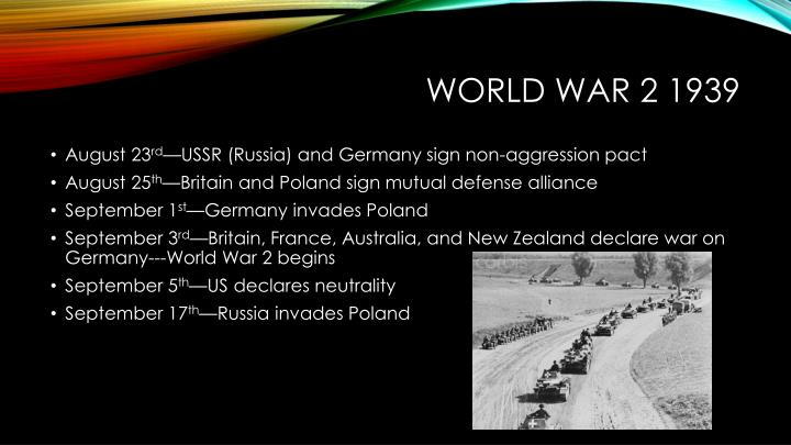 World War 2 1939