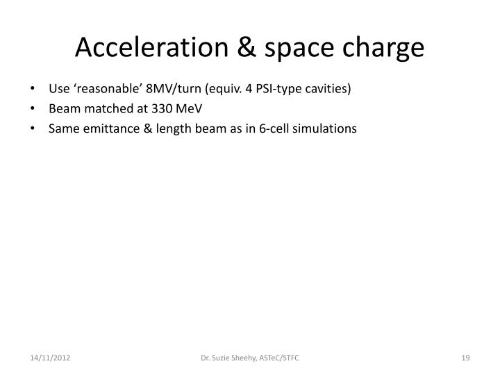 Acceleration & space charge