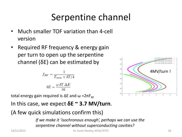 Serpentine channel