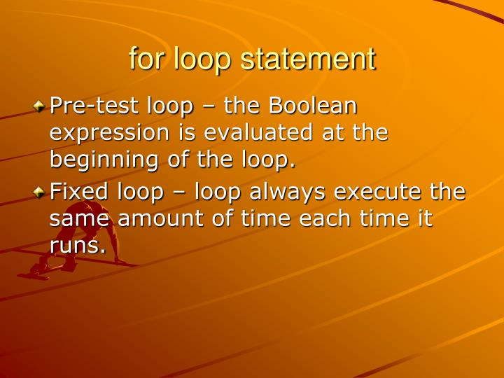 for loop statement