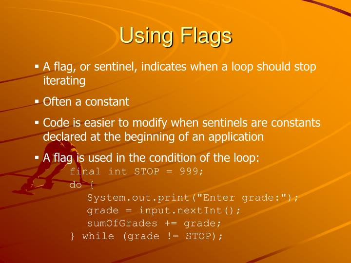 Using Flags