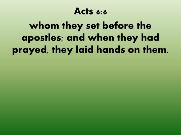 Acts 6:6